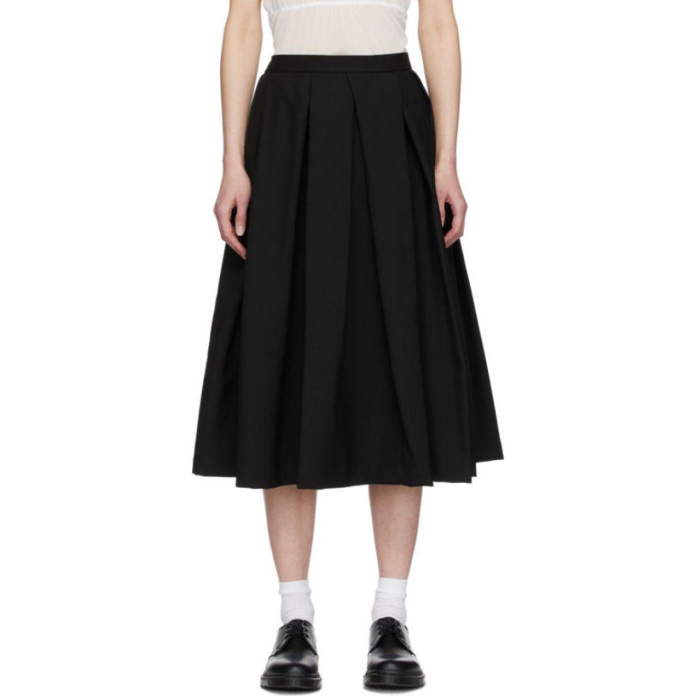 コム デ ギャルソン Comme des Garcons Comme des Garcons レディース ひざ丈スカート スカート【Black Mohair Pleated Skirt】Black