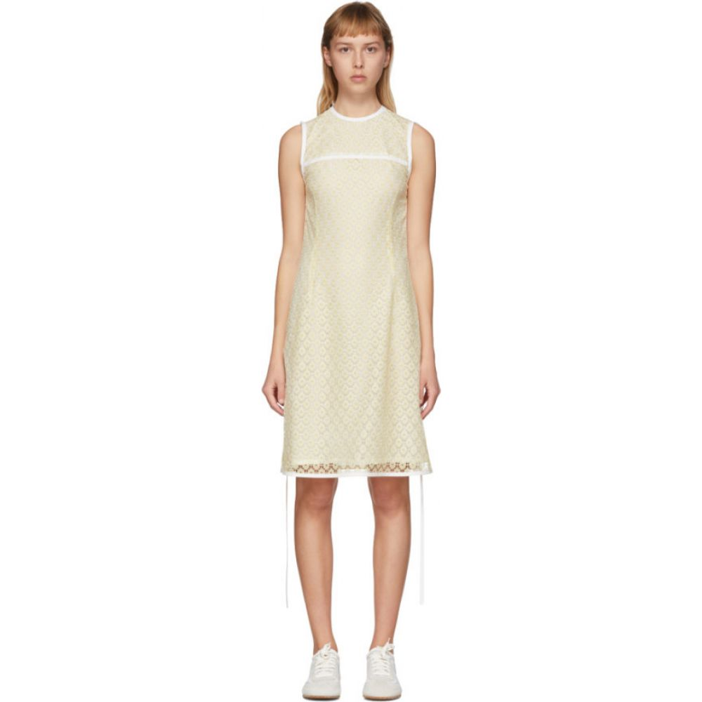 ロエベ Loewe レディース ワンピース ミニ丈 ワンピース・ドレス【Yellow Lace Mini Dress】Yellow