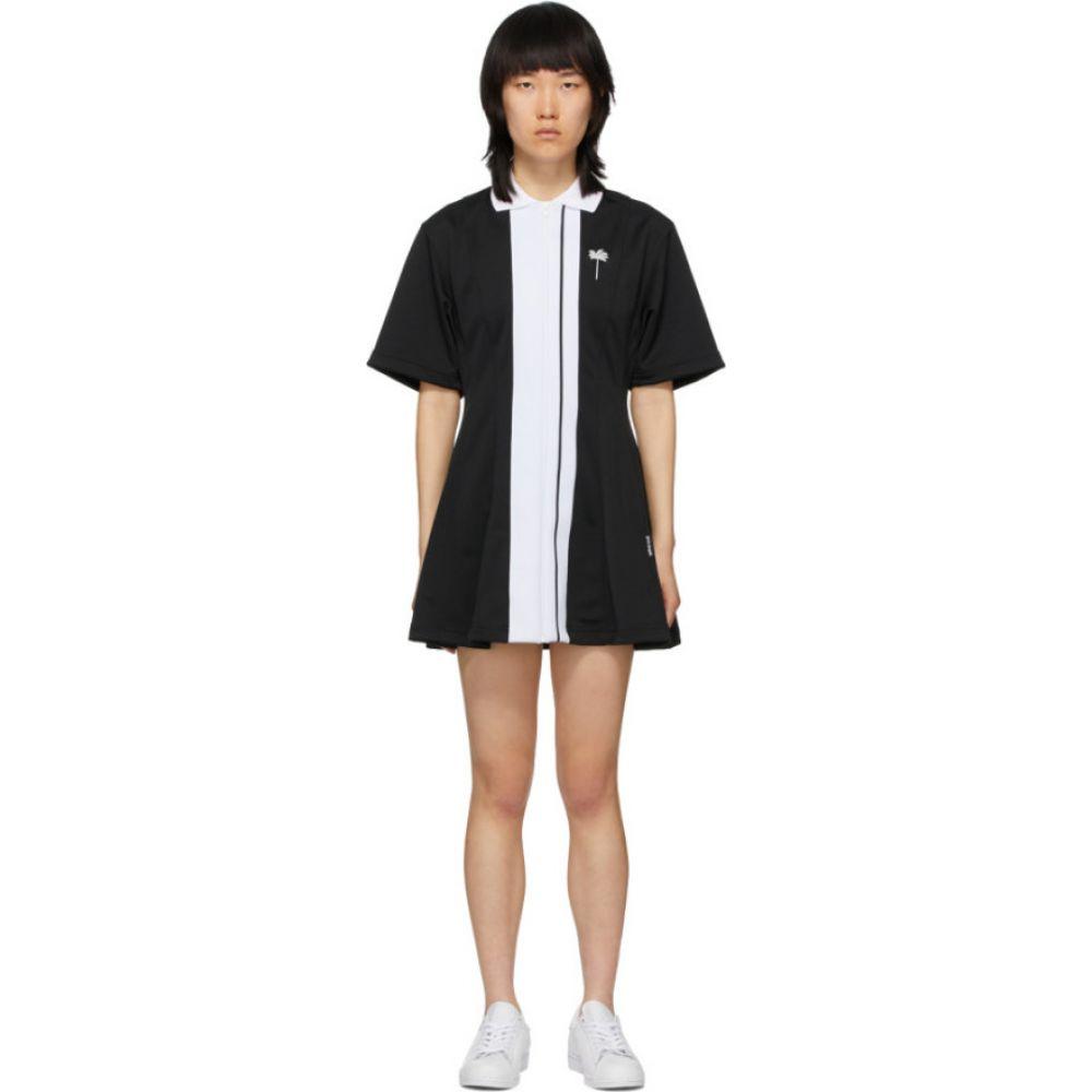 パーム エンジェルス Palm Angels レディース テニス ワンピース トップス【Black Tennis Track Dress】Black