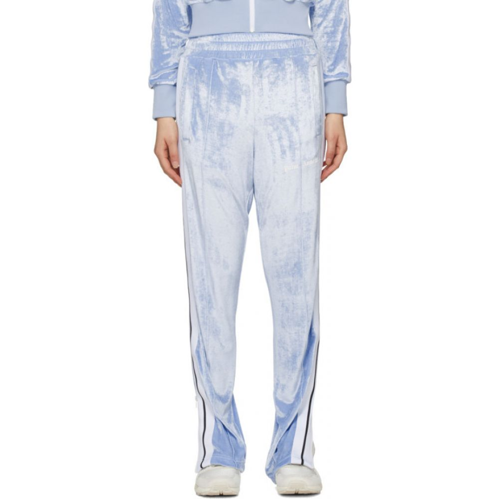 パーム エンジェルス Palm Angels レディース スウェット・ジャージ ボトムス・パンツ【Blue Chenille Lounge Pants】Light blue