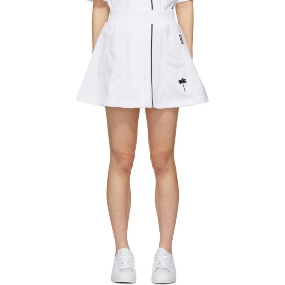 パーム エンジェルス Palm Angels レディース テニス スカート ボトムス・パンツ【White Tennis Skirt】White
