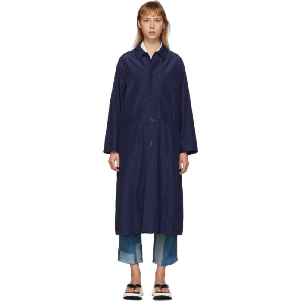 ブルーブルージャパン Blue Blue Japan レディース コート アウター【Indigo Wavy Rayon Coat】Indigo