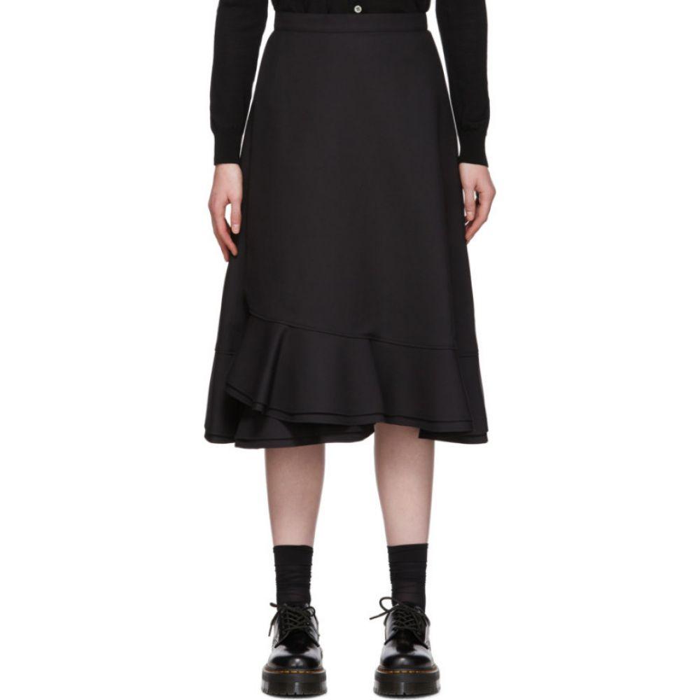 コム デ ギャルソン Tricot Comme des Garcons レディース ひざ丈スカート スカート【Black Ruffle Haim Skirt】Black