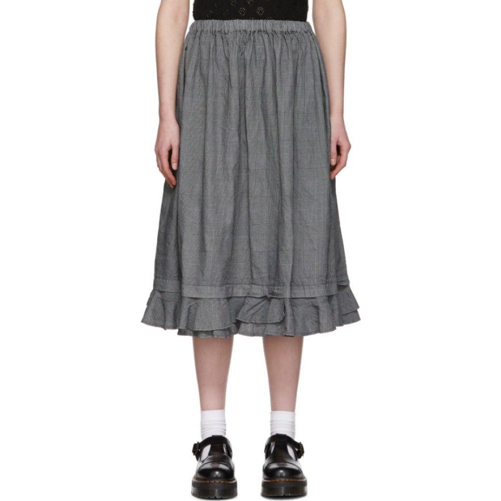コム デ ギャルソン Tricot Comme des Garcons レディース ひざ丈スカート スカート【Black & Grey Linen Check Skirt】Grey/Black
