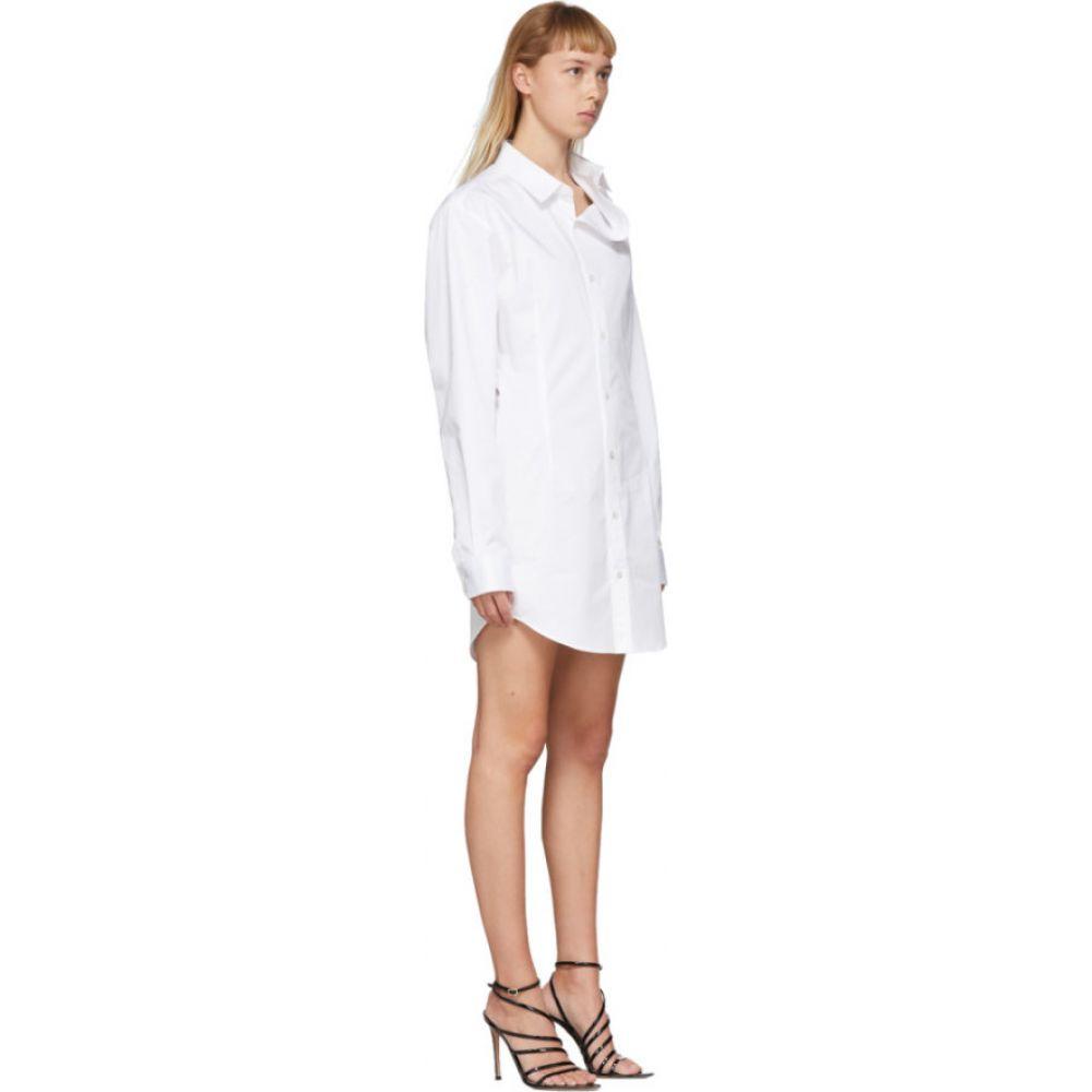 ワイプロジェクト Y Project レディース ワンピース シャツワンピース ワンピース・ドレス White Asymmetric Shirt Dress WhiteFlcTK31J