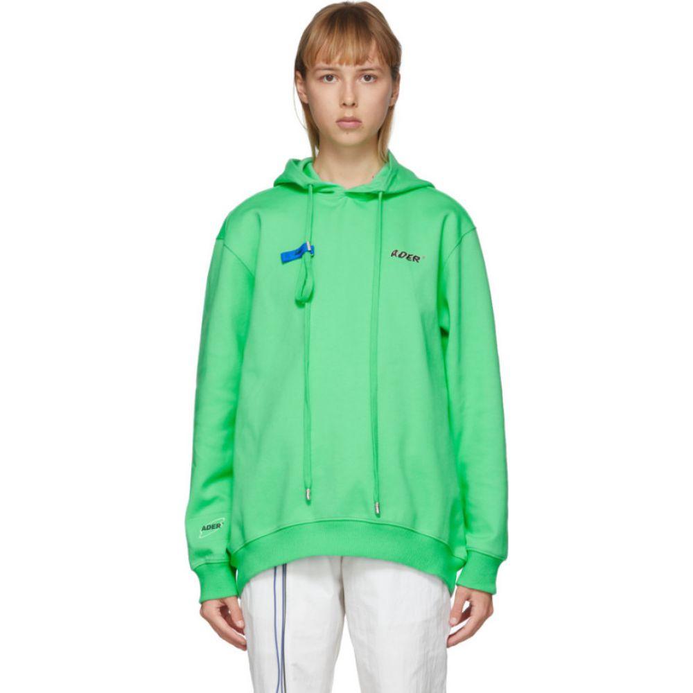 アーダーエラー ADER error レディース パーカー トップス【Green Tort.og Hoodie】Neon green