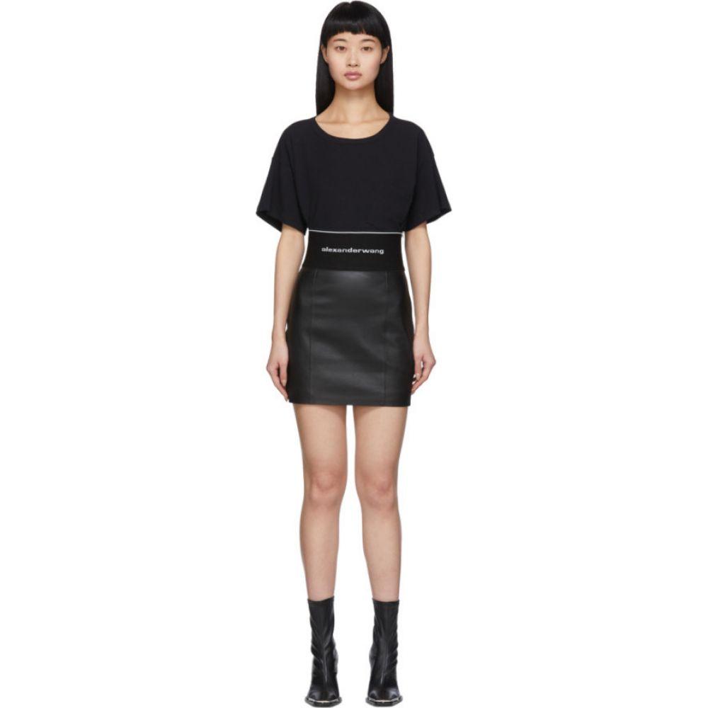 アレキサンダー ワン Alexander Wang レディース ミニスカート スカート【Black Leather Miniskirt】Black