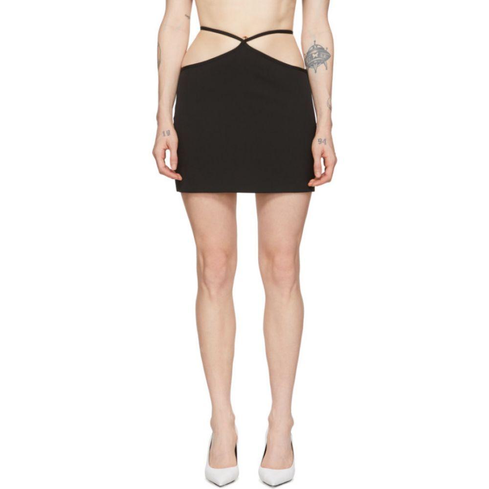 ミャオ Miaou レディース ミニスカート スカート【Black Wool Nadine Skirt】Black