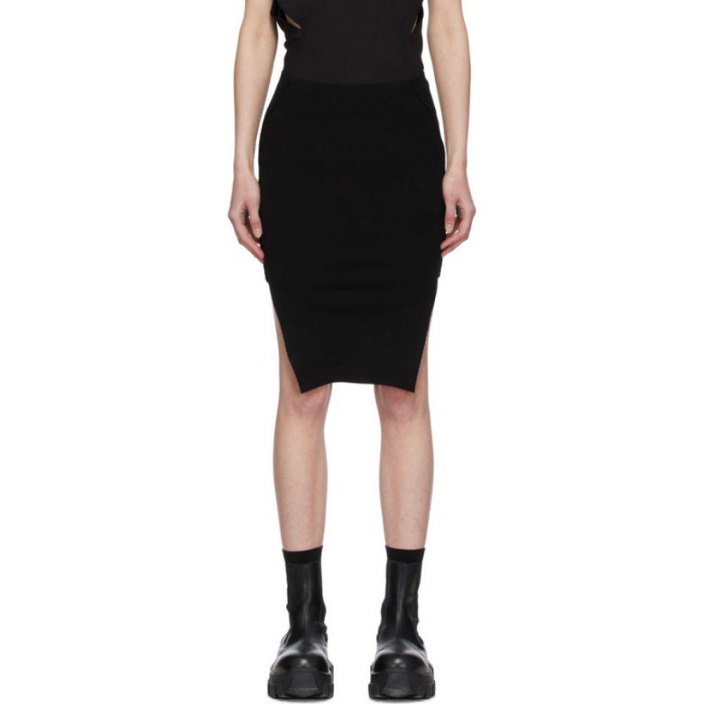 リック オウエンス Rick Owens レディース ミニスカート スカート【Black Sacriskirt Miniskirt】Black