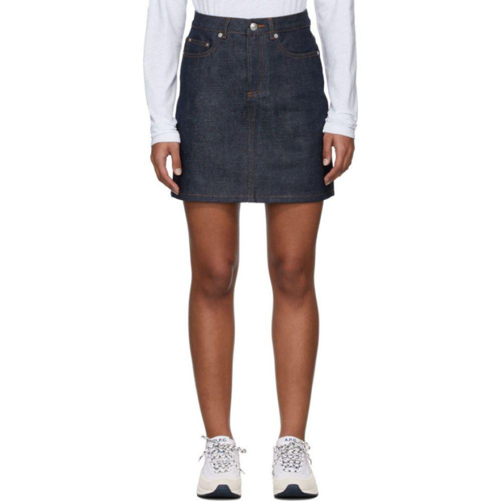 アーペーセー A.P.C. レディース ミニスカート デニム スカート【Indigo Denim Standard Short Skirt】Indigo