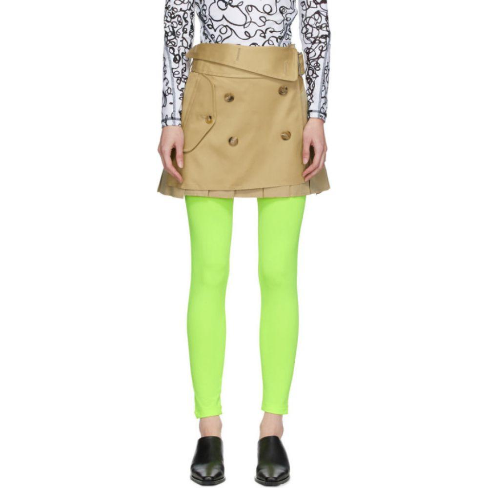 ジュンヤ ワタナベ Junya Watanabe レディース ミニスカート スカート【Beige Pleated Trench Skirt】Beige