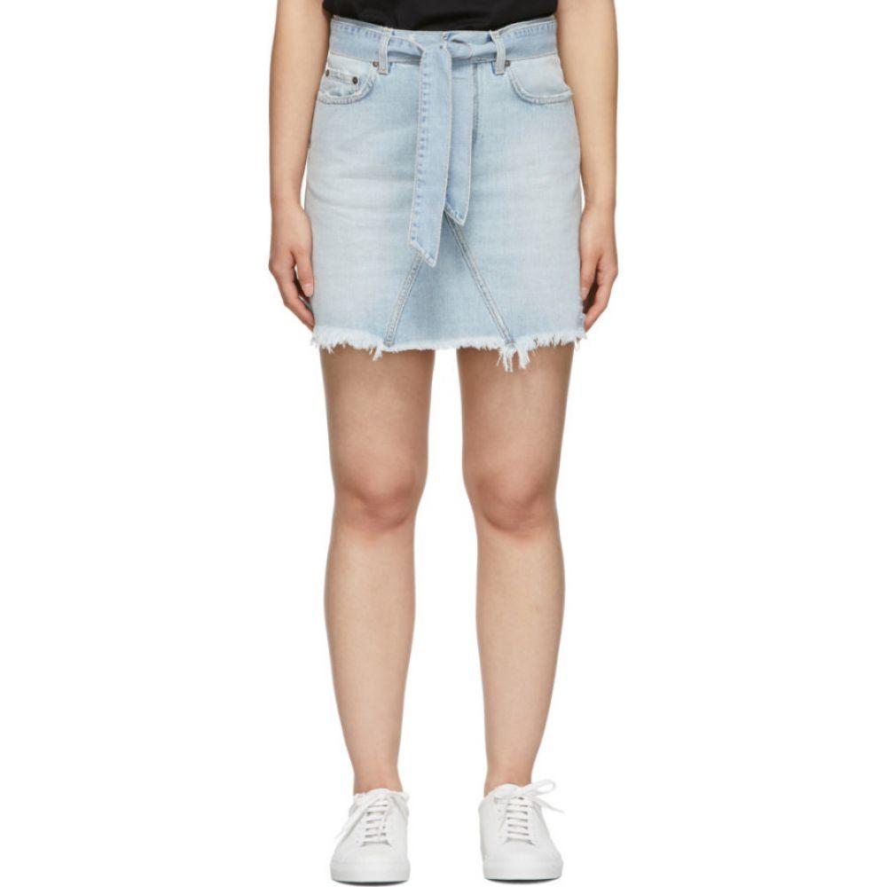 ジバンシー Givenchy レディース ミニスカート スカート【Blue Denim A-Line Miniskirt】Denim