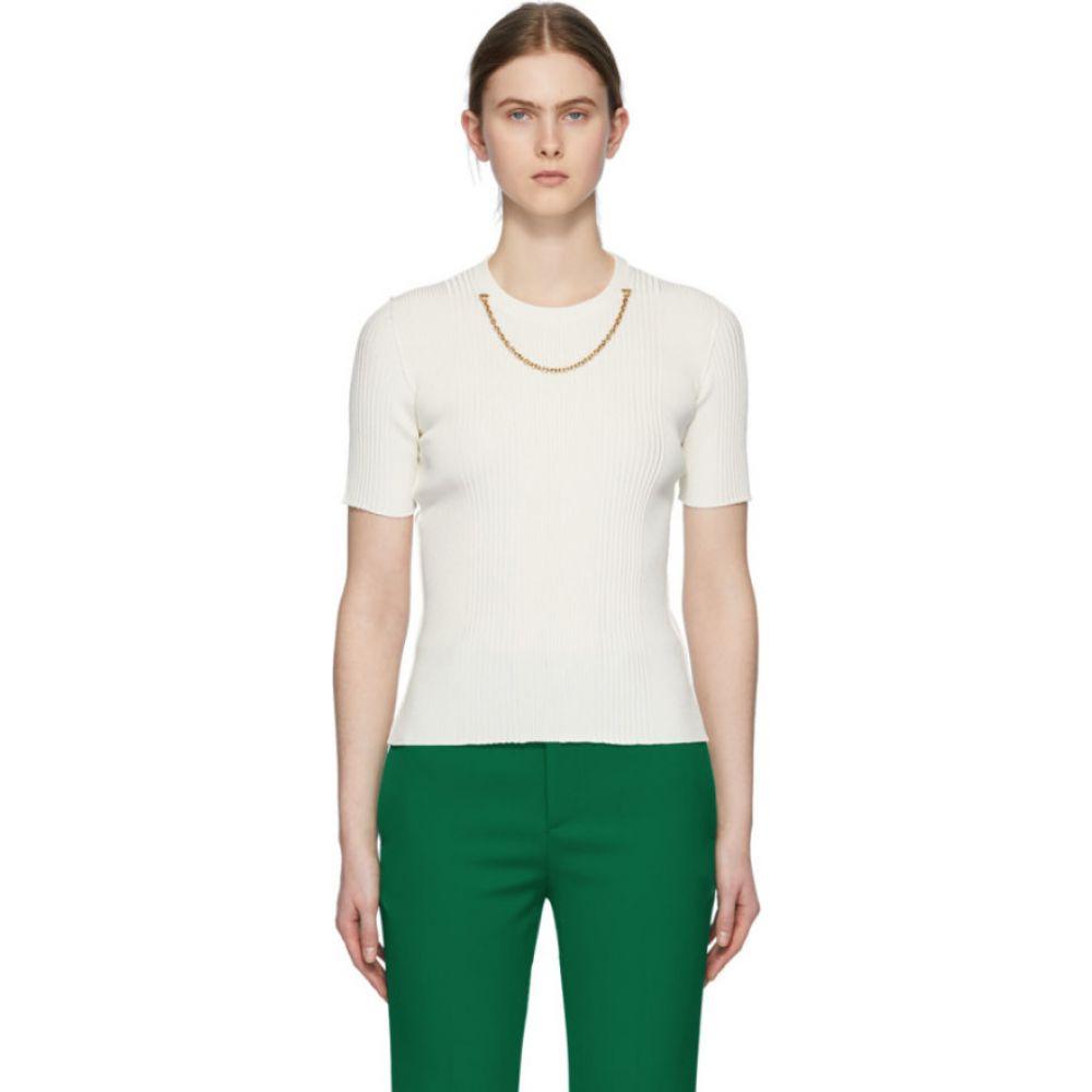 ジバンシー Givenchy レディース ニット・セーター トップス【White Chain Short Sleeve Sweater】White