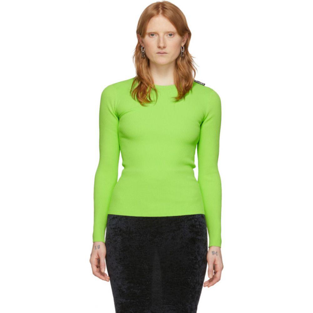 バレンシアガ Balenciaga レディース ニット・セーター トップス【Green Tab Sweater】Acid green