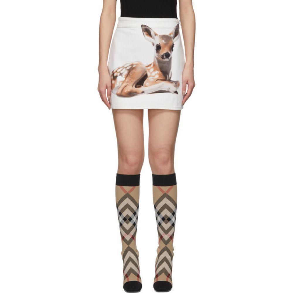 バーバリー Burberry レディース ミニスカート スカート【White Bambi Skirt】White