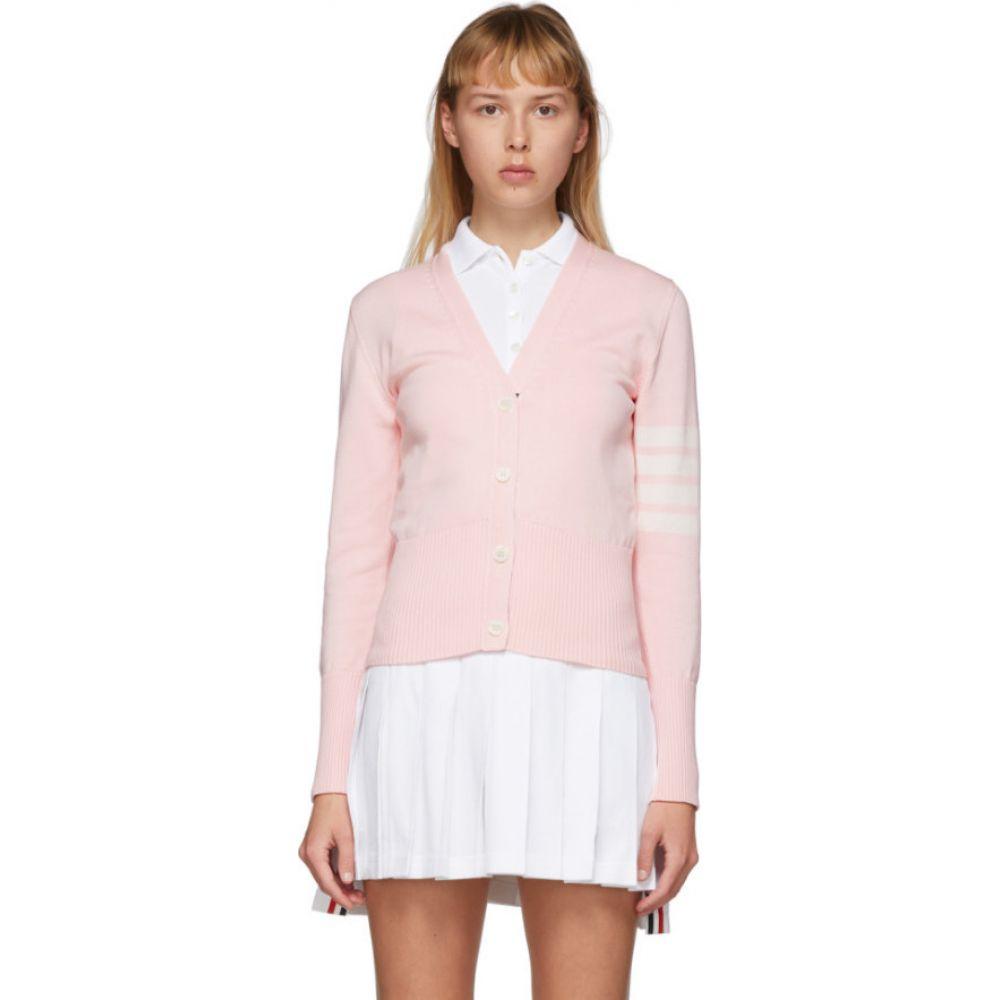 トム ブラウン Thom Browne レディース カーディガン トップス【Pink Hector Icon Cardigan】Light pink