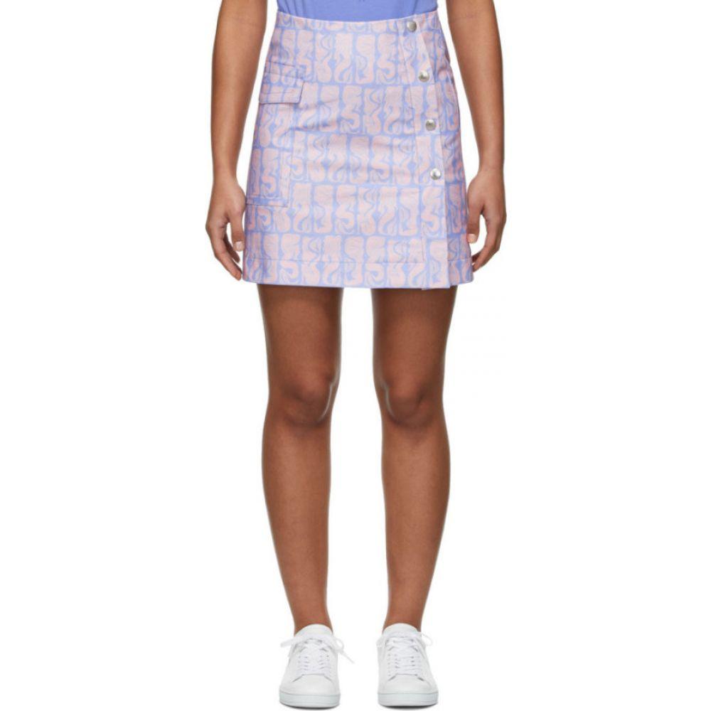 ケンゾー Kenzo レディース ミニスカート スカート【Purple & Pink Straight Miniskirt】Lavender
