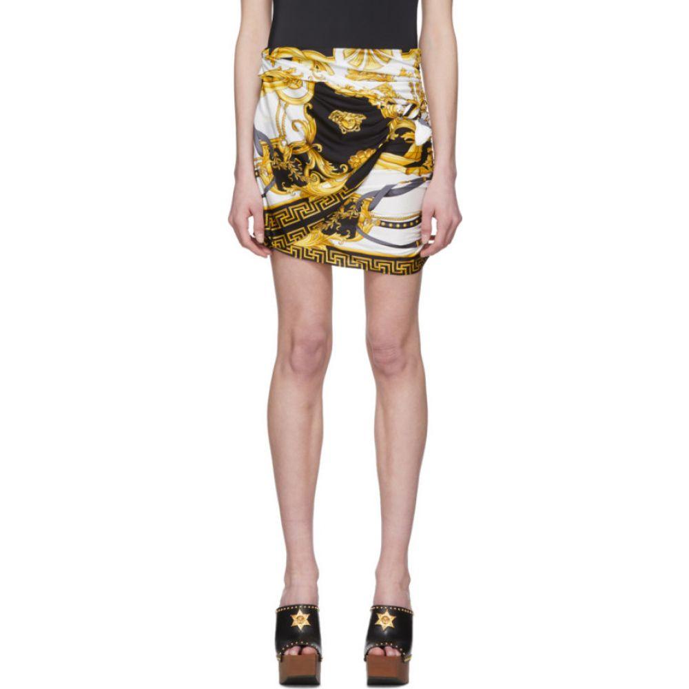 ヴェルサーチ Versace レディース ミニスカート スカート【Black & Gold Wrapped 'The Rodeo Queen' Miniskirt】White/Gold