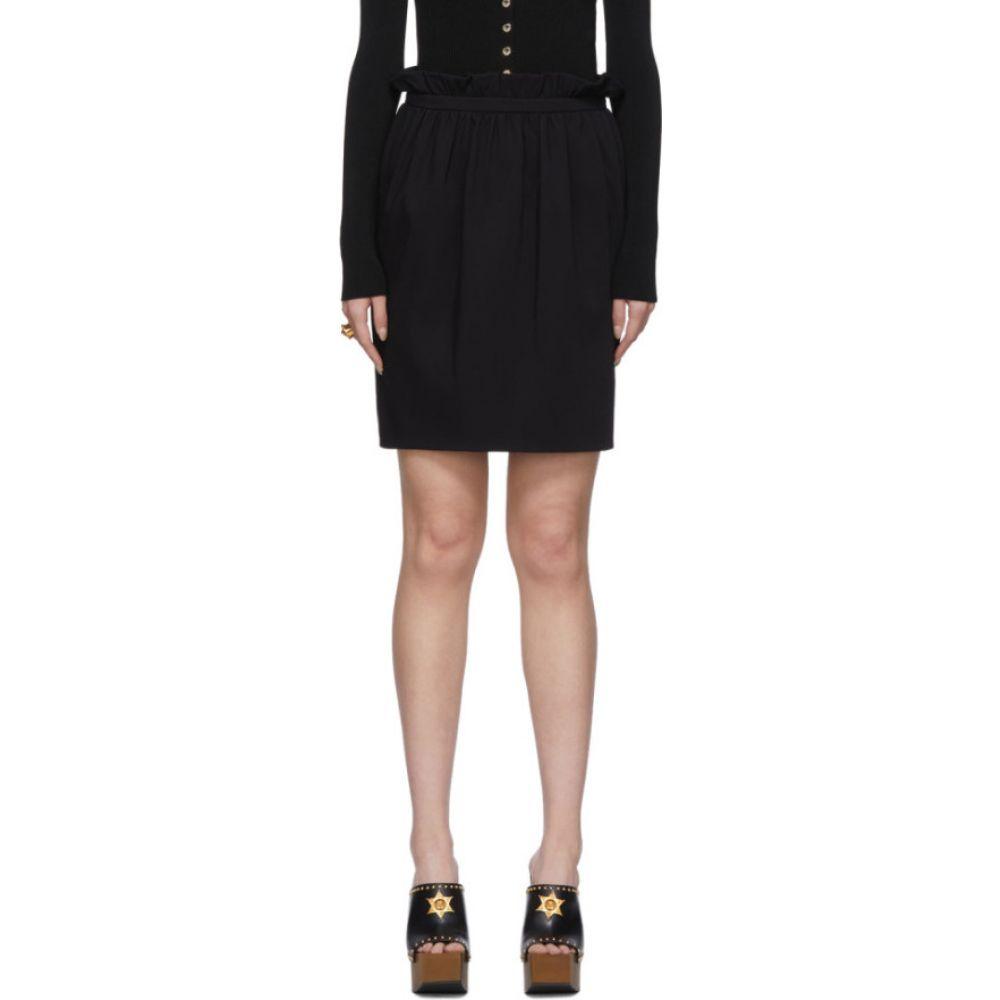 ヴェルサーチ Versace レディース ミニスカート スカート【Black Silk Pleated Waist Miniskirt】Black