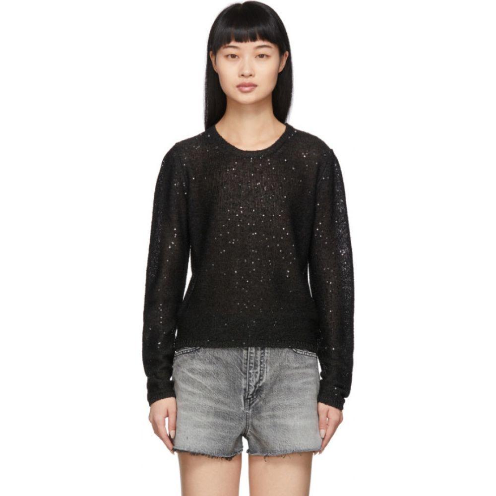 イヴ サンローラン Saint Laurent レディース ニット・セーター トップス【Black Sequin Sweater】Black