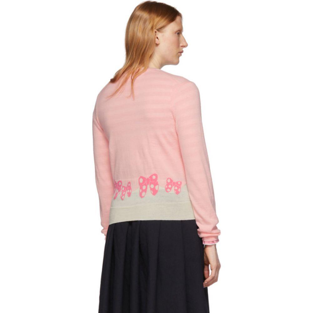 コム デ ギャルソン Comme des Garcons Girl レディース カーディガン トップス PinkWhite Disney Edition Ribbons Cardigan PinkSULMVGjpqz