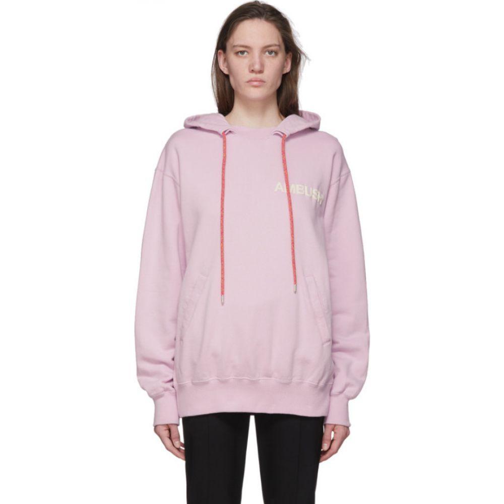 アンブッシュ Ambush レディース パーカー トップス【SSENSE Exclusive Pink Logo Hoodie】Pink