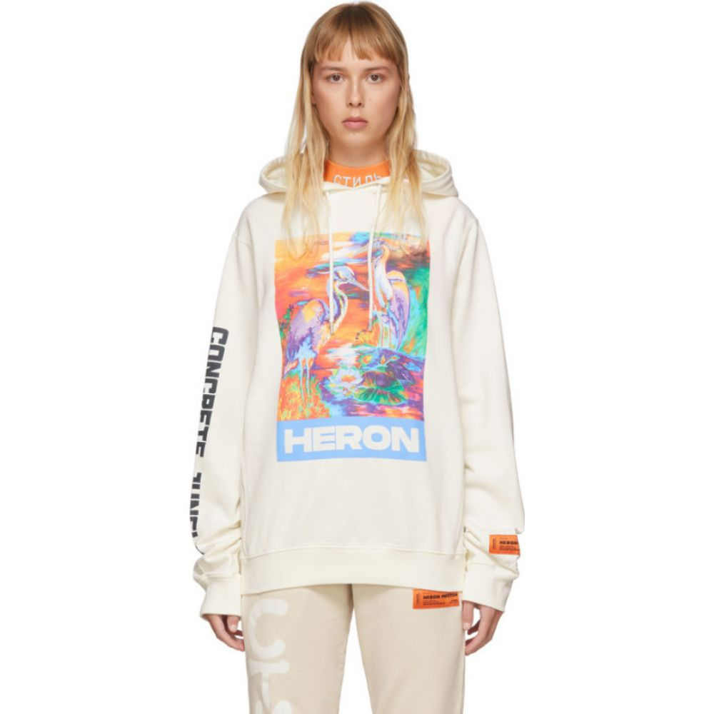 ヘロン プレストン Heron Preston レディース パーカー トップス【Off-White 'Heron' Hoodie】White