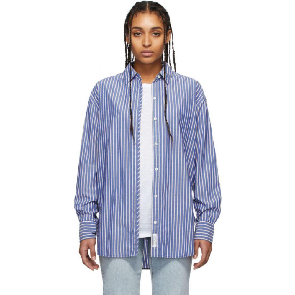 ラグ&ボーン rag & bone レディース ブラウス・シャツ トップス【Blue Alina Shirt】Blue stripe