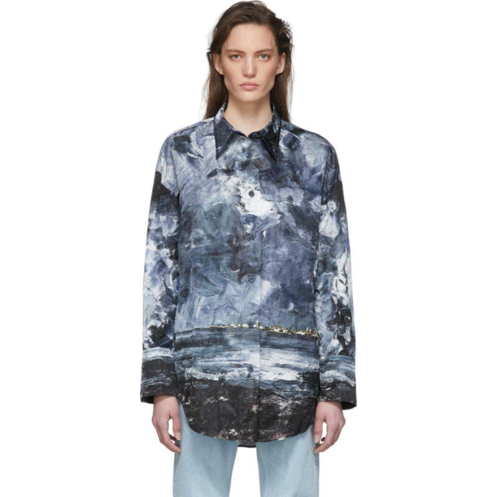 アクネ ストゥディオズ Acne Studios レディース ブラウス・シャツ トップス【Blue Creased Landscape Painting Shirt】Blue/Multi