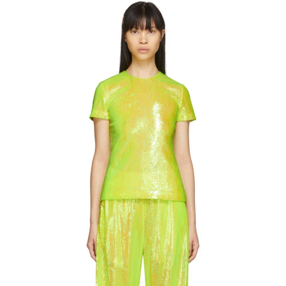 メゾン マルジェラ MM6 Maison Margiela レディース ブラウス・シャツ トップス【Yellow Sequin Blouse】Yellow