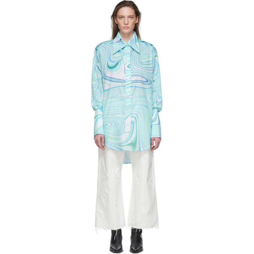 レカヴァリエ Lecavalier レディース チュニック トップス【Blue Oversize Tunic Shirt】Mint