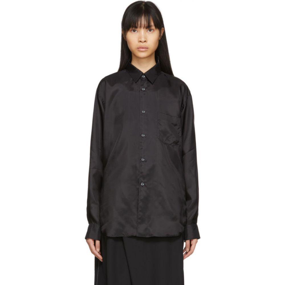 コム デ ギャルソン Comme des Garcons Shirt レディース ブラウス・シャツ トップス【Black Cupro Taffeta Forever Shirt】Black