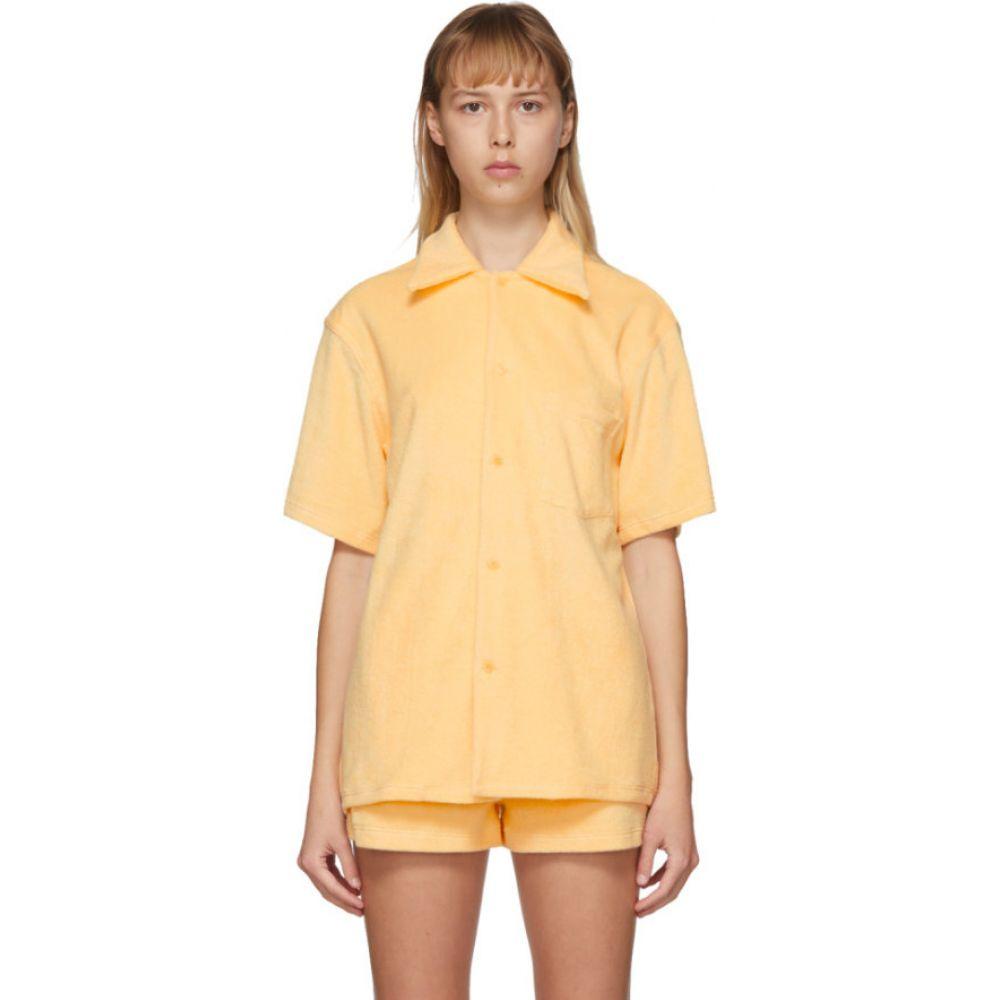 ギル ロドリゲス Gil Rodriguez レディース ブラウス・シャツ ボーリングシャツ トップス【SSENSE Exclusive Yellow Terry Bowling Shirt】Butter