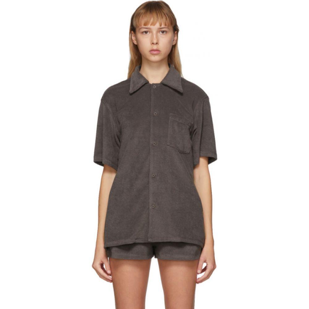 ギル ロドリゲス Gil Rodriguez レディース ブラウス・シャツ ボーリングシャツ トップス【SSENSE Exclusive Brown Terry Bowling Shirt】Chocolate