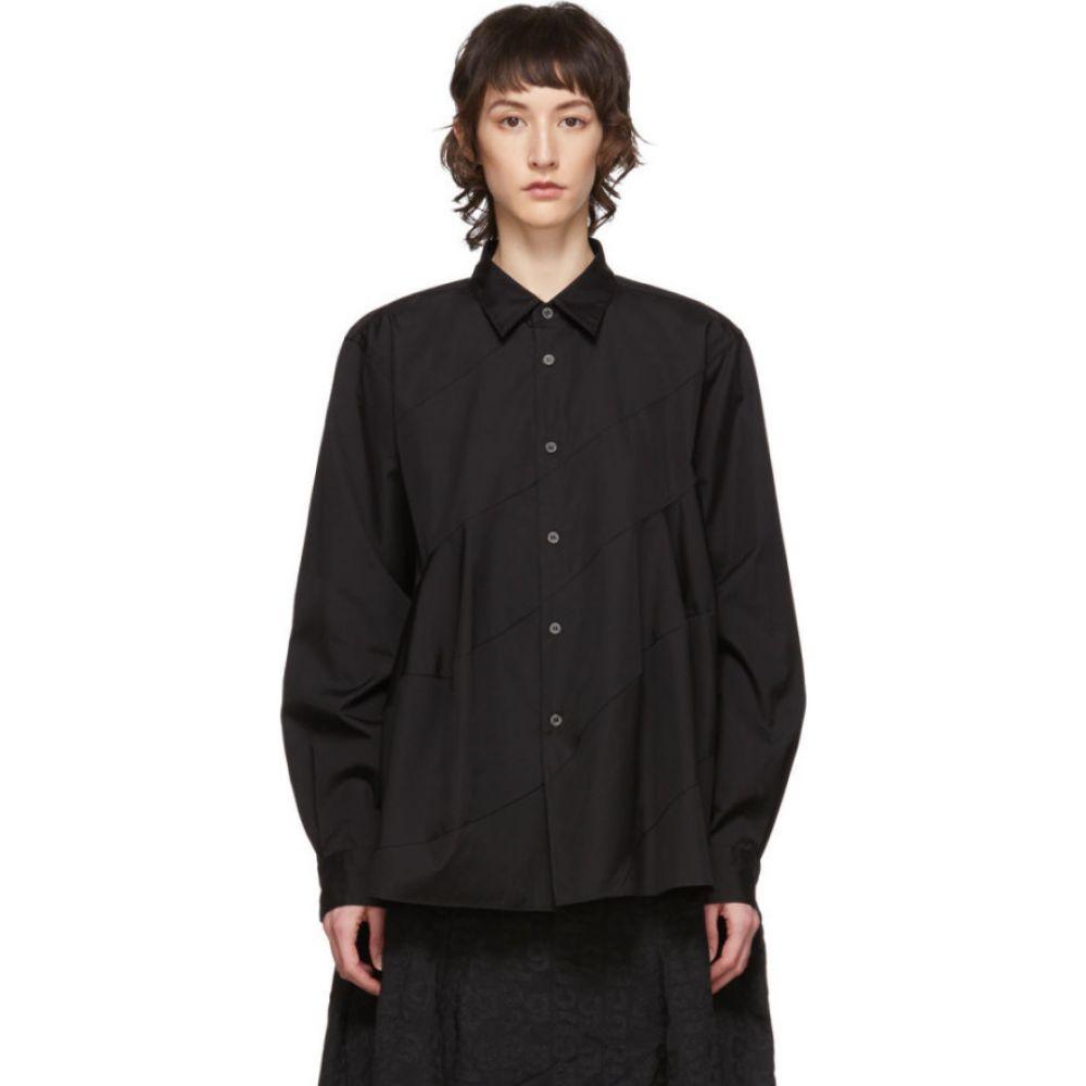 コム デ ギャルソン Comme des Garcons Homme Plus レディース ブラウス・シャツ トップス【Black Spiral Seam Shirt】Black