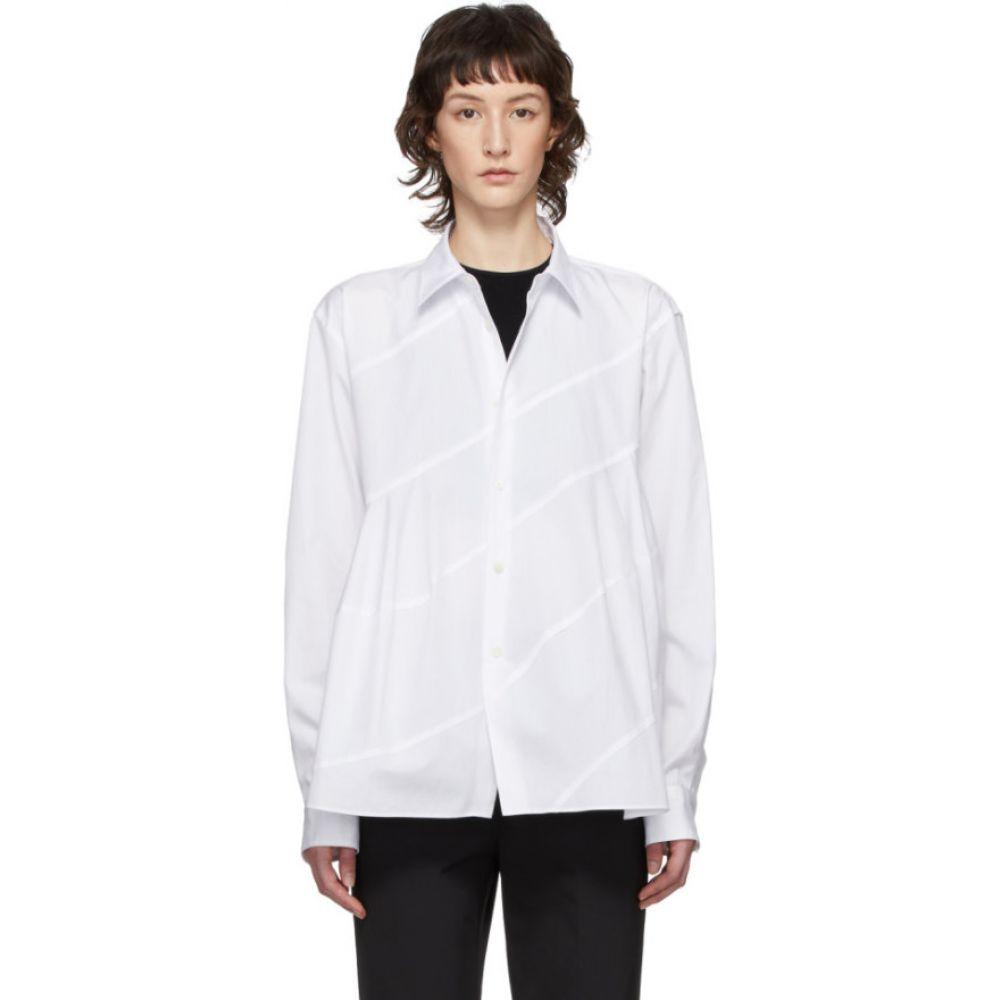 コム デ ギャルソン Comme des Garcons Homme Plus レディース ブラウス・シャツ トップス【White Spiral Seam Shirt】White