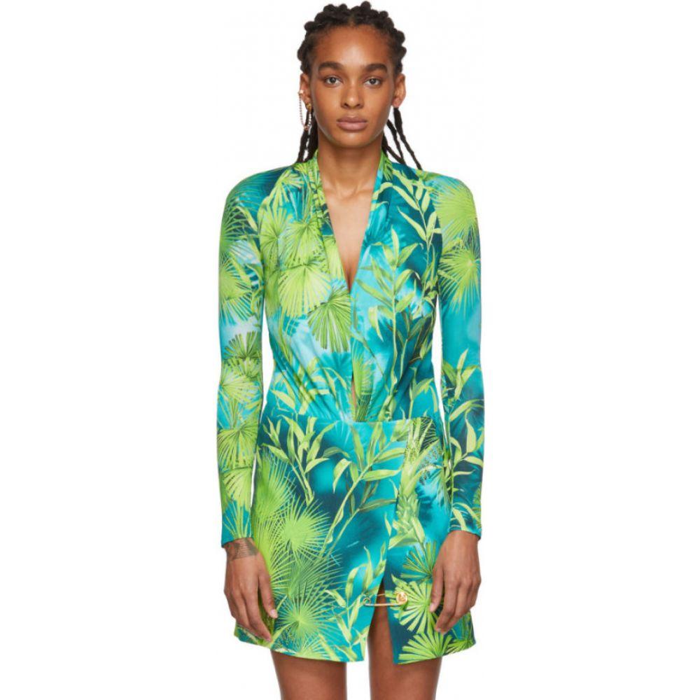 ヴェルサーチ Versace レディース ボディースーツ インナー・下着【Green Jungle Bodysuit】Green