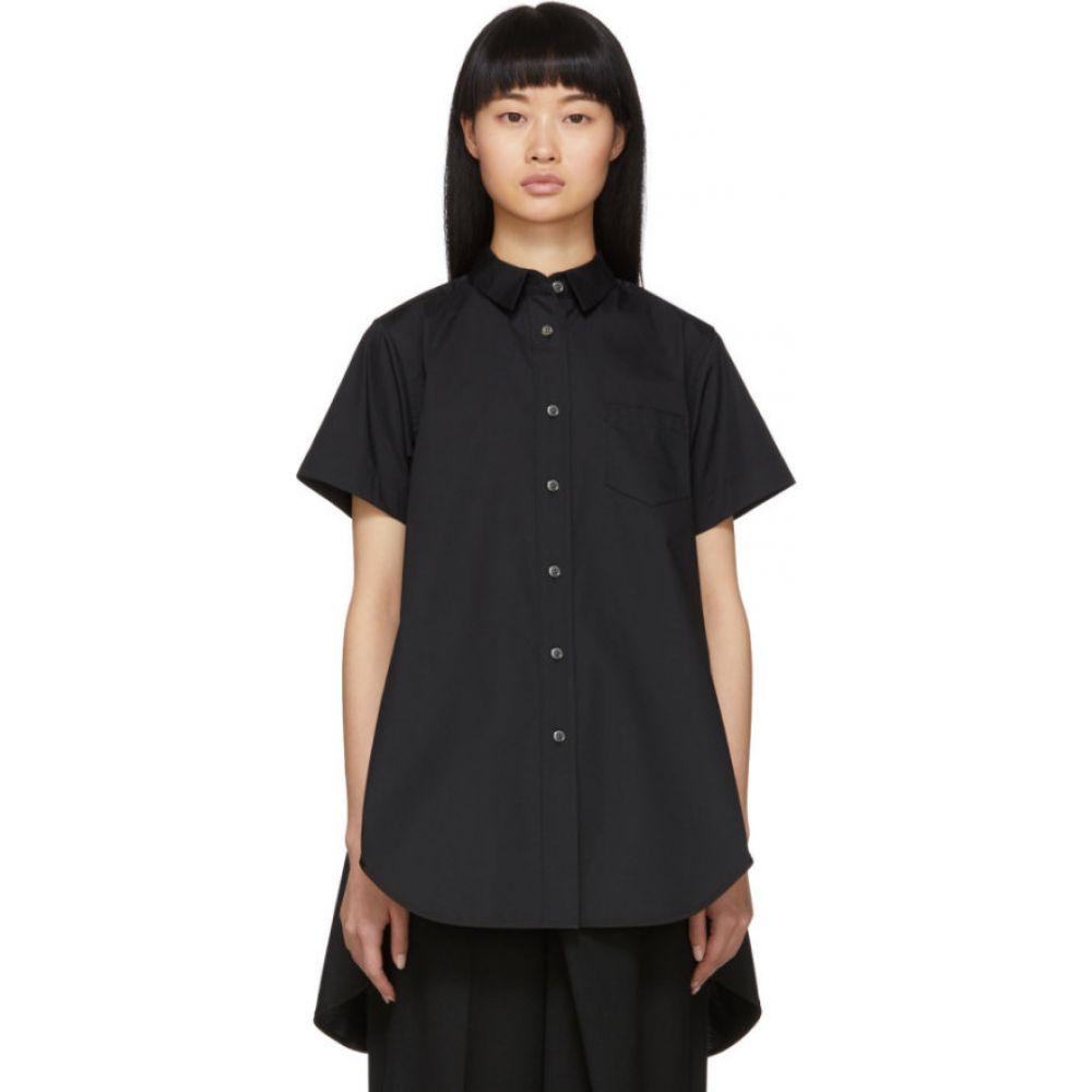 サカイ Sacai レディース ブラウス・シャツ トップス【Black Poplin Shirt】Black