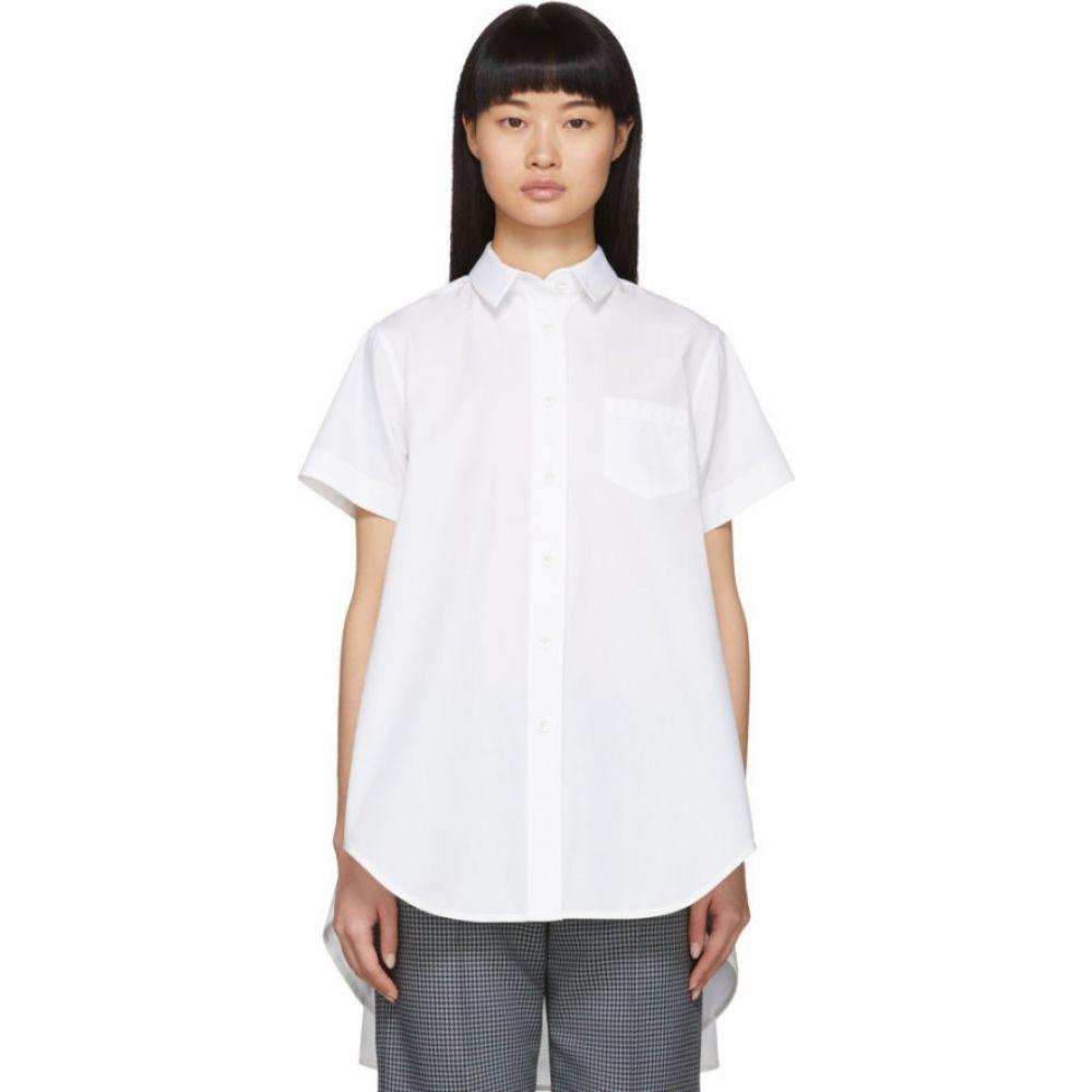 サカイ Sacai レディース ブラウス・シャツ トップス【White Poplin Shirt】White