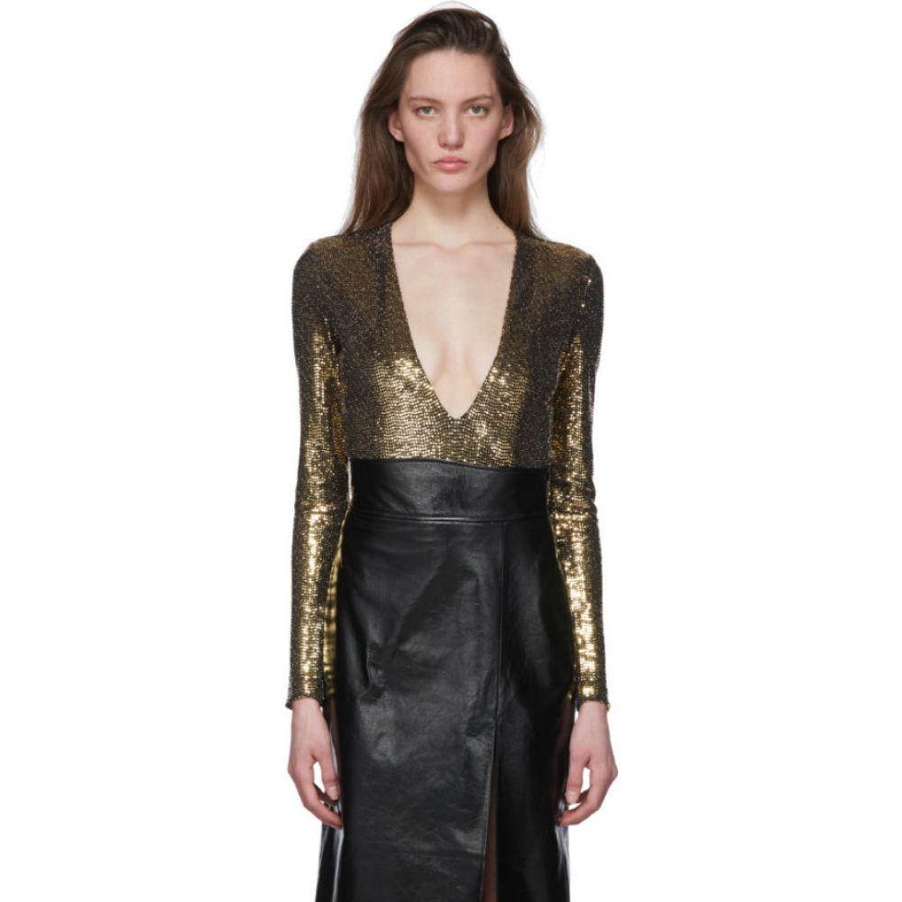 グッチ Gucci レディース ボディースーツ インナー・下着【Gold Metallic Bodysuit】Gold