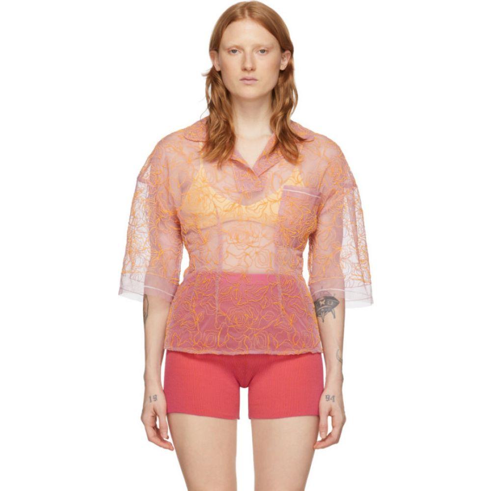 ジャックムス Jacquemus レディース ポロシャツ トップス【Pink 'Le Polo Lavandou' Polo】Pink/Orange