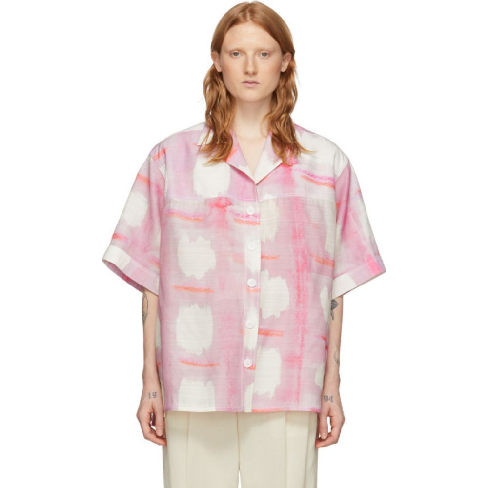 ジャックムス Jacquemus レディース ブラウス・シャツ トップス【Pink 'La Chemise Vallena' Short Sleeve Shirt】Print pink