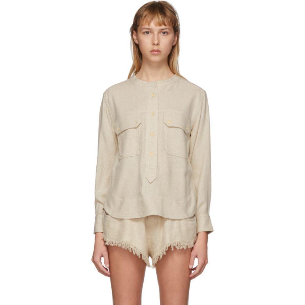 イザベル マラン Isabel Marant レディース ブラウス・シャツ トップス【Off-White Tecoyo Shirt】Ecru