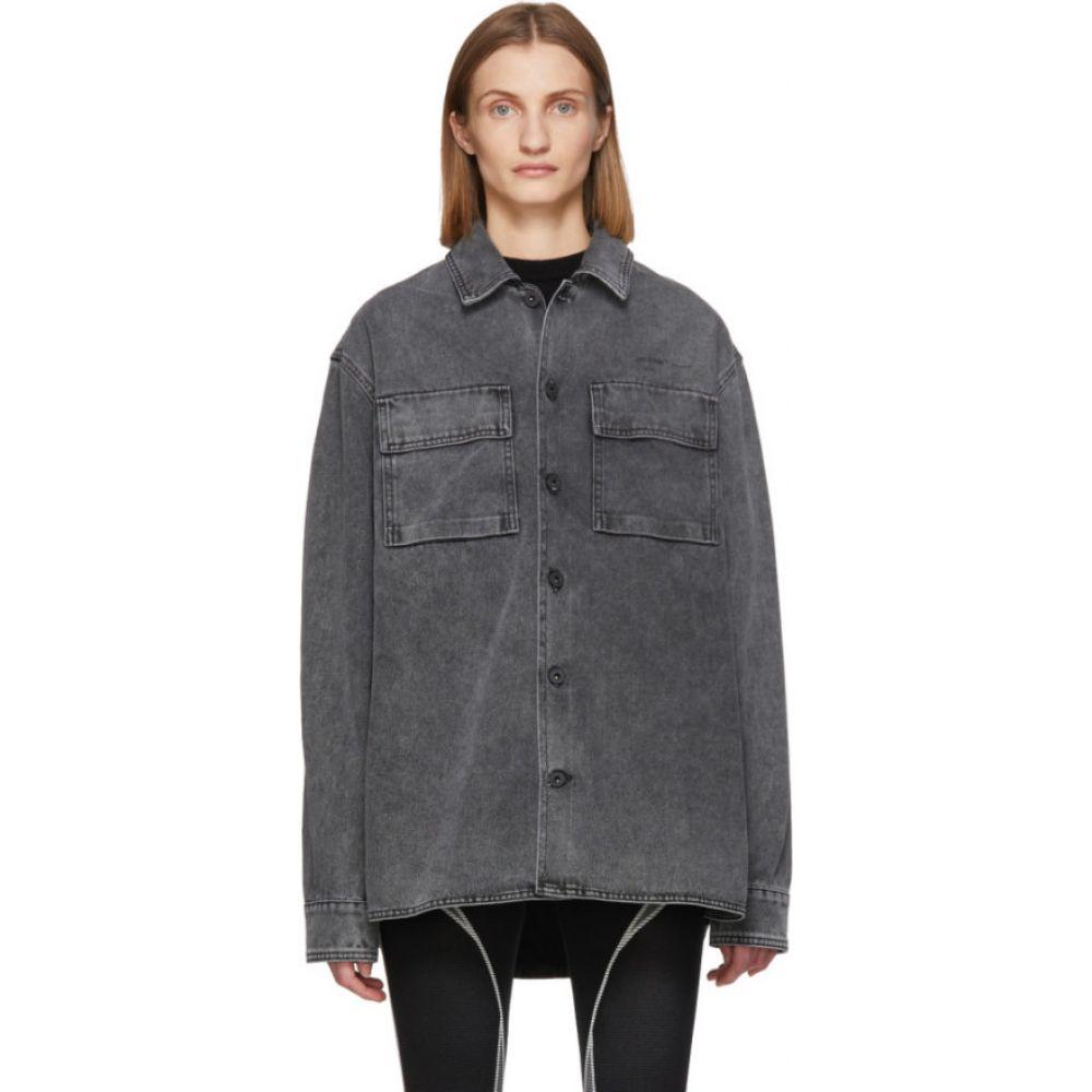 オフホワイト Off-White レディース ブラウス・シャツ トップス【Grey Arrows Shirt】Medium grey