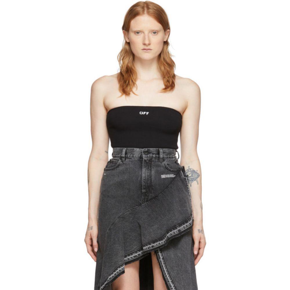オフホワイト Off-White レディース ボディースーツ インナー・下着【Black Strapless Bodysuit】Black