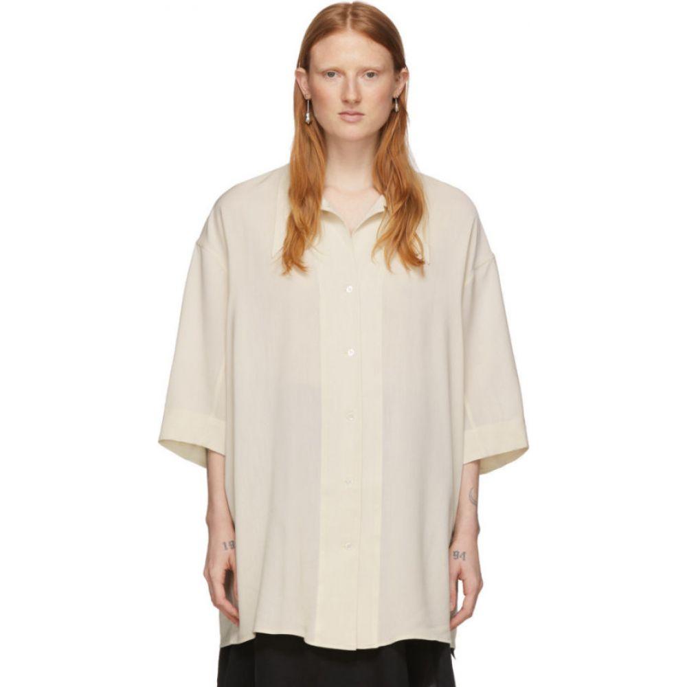 ルメール Lemaire レディース ブラウス・シャツ トップス【Off-White Maxi Shirt】Almond milk