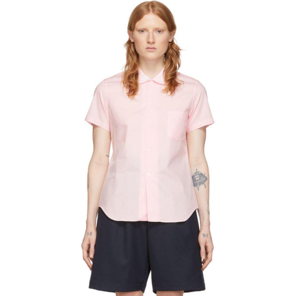 コム デ ギャルソン Comme des Garcons Girl レディース ブラウス・シャツ トップス【Pink Peter Pan Collar Short Sleeve Shirt】Pink