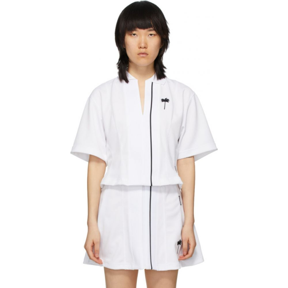 パーム エンジェルス Palm Angels レディース ポロシャツ トップス【White Tennis Polo】Chalk white