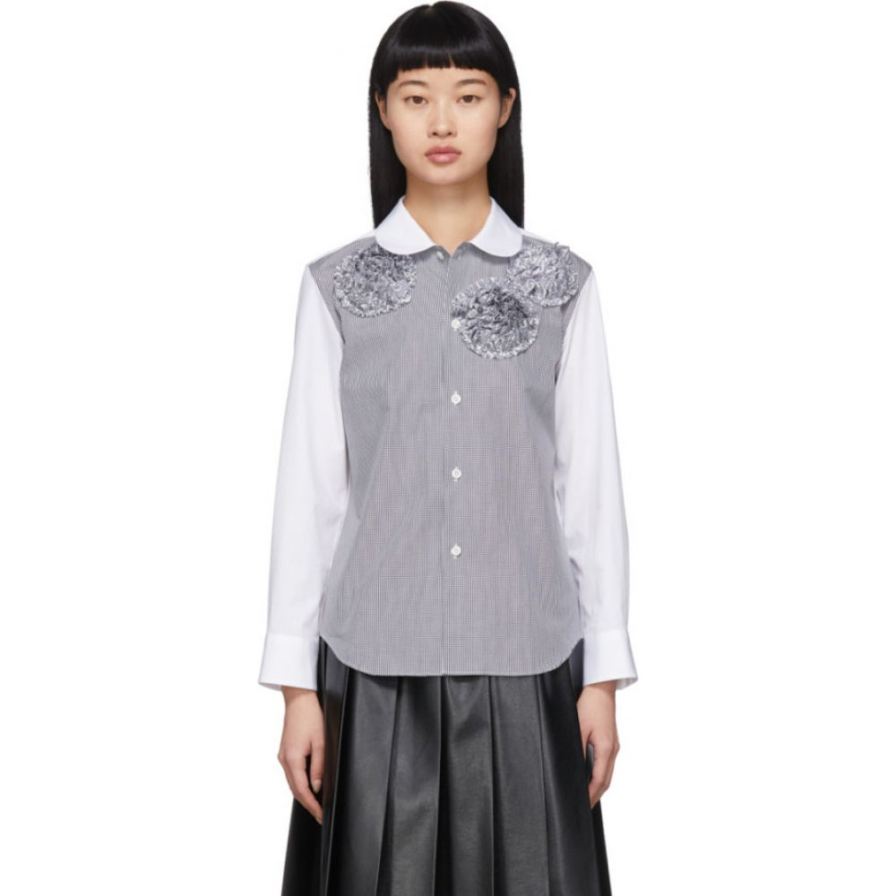 コム デ ギャルソン Tricot Comme des Garcons レディース ブラウス・シャツ トップス【White Flower Shirt】Black