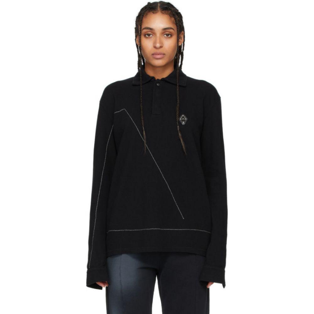 アコールドウォール A-COLD-WALL* レディース ポロシャツ トップス【Black Rhombus Badge Long Sleeve Polo】Black